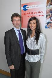 Tom Brake with former Miss Great Britain