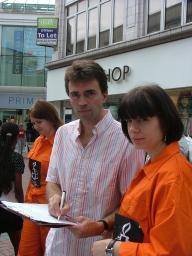 Tom Brake with Jo Bartlett