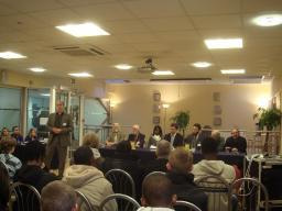 Question Time Panellists Face Audience at Carshalton College