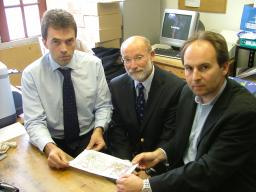 Tom Brake MP Reviewing plans for the upgrade of the foul water pipe network