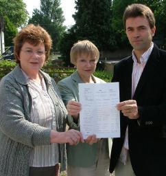 St Margaret's Justice and Peace Group Present Petition