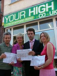 Campaigners petition against 'Your High' in Wallington