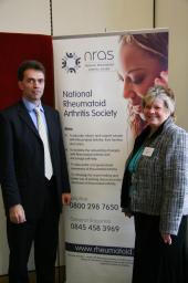 Tom with Lynne Love, Director of Operations at the National Rheumatoid Arthritis Society
