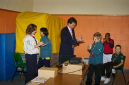 Tom Brake visits the 15th Wallington Scout Group