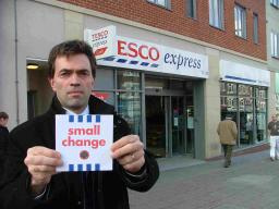 Tom Brake in front of his local Tesco