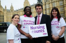 Tom with RCN bus volunteers