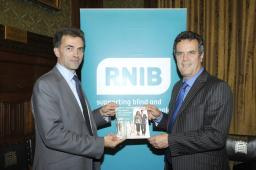 Tom Brake with the RNIB