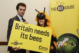 Tom Brake in the company of a FOE' giant bumble bee