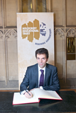 Tom Brake signing Commitment Book in the House of Commons