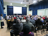 Up to 200 people attended the public meeting on the future of the St Helier hospital