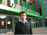 Tom Brake outside the Jubilee Centre