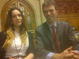 Me and Anna during her visit to Parliament