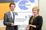 Tom Brake with actress and former carer Lynda Bellingham