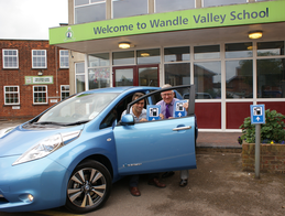 Tom Brake with Wandle Valley School Headteacher, Mr. Douglas L Bone