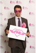 Tom Brake backed the Breast Cancer Awareness Month showing his support for the 'Wear it Pink' day.