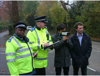 Tom Brake MP and Cllr Peter Fosdike with the Safer Neighbourhood Team