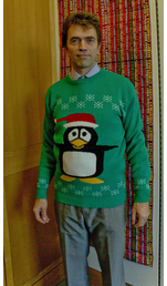 Tom Brake MP donned his festive woolly to help raise money for Save the Children.