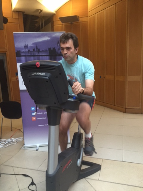 Tom Brake Uses Pedal Power to Promote Poppy Appeal
