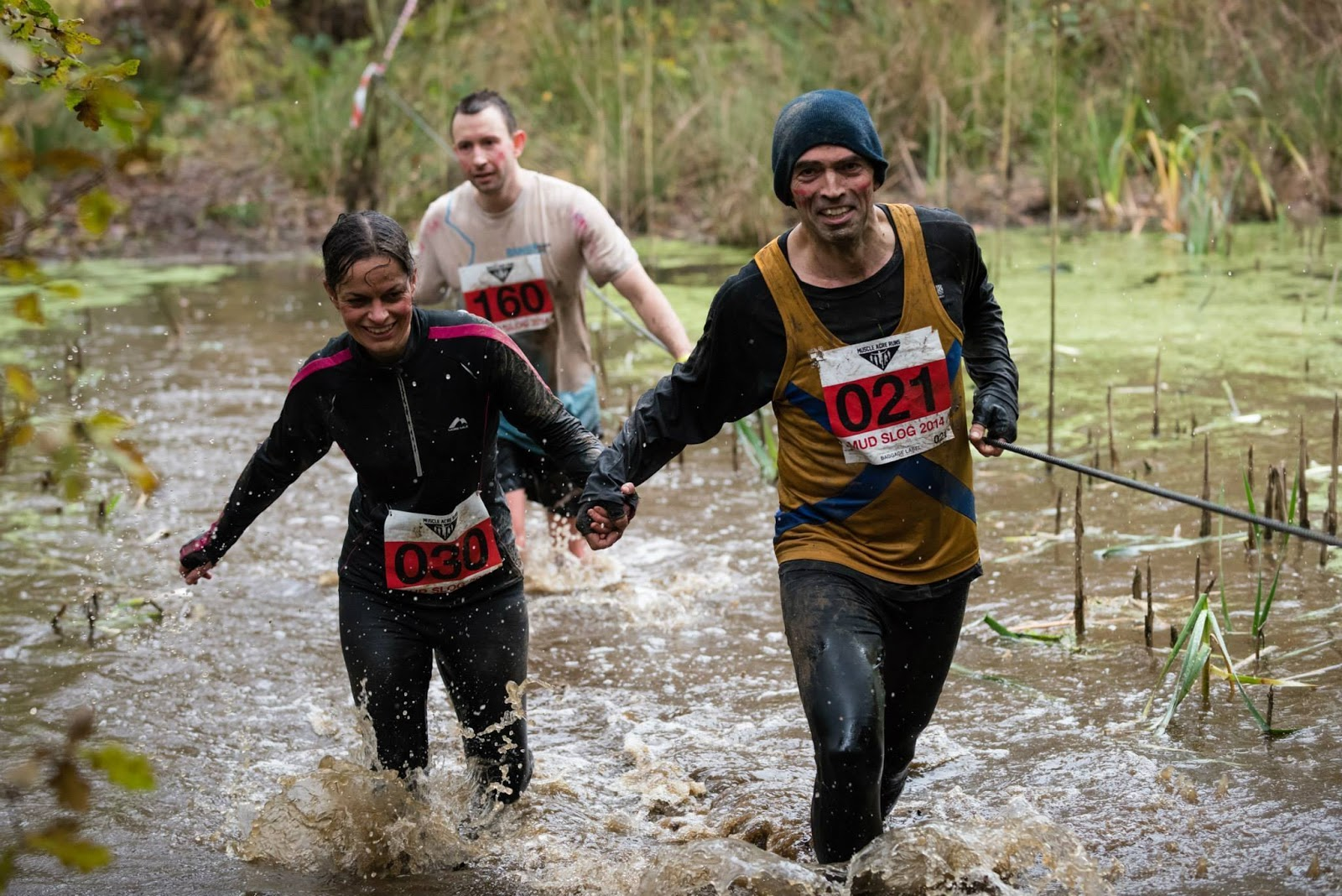 Tom Brake MP dashes through mud once more