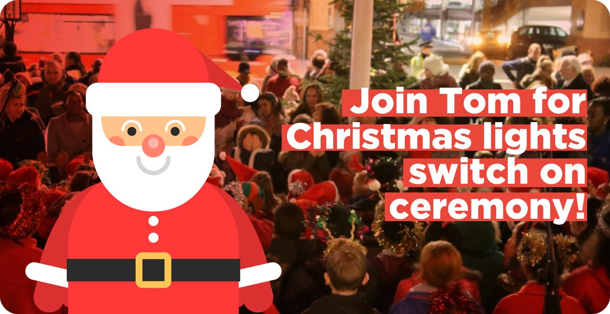 Join Tom this Friday for the Christmas lights switch-on ceremony!
