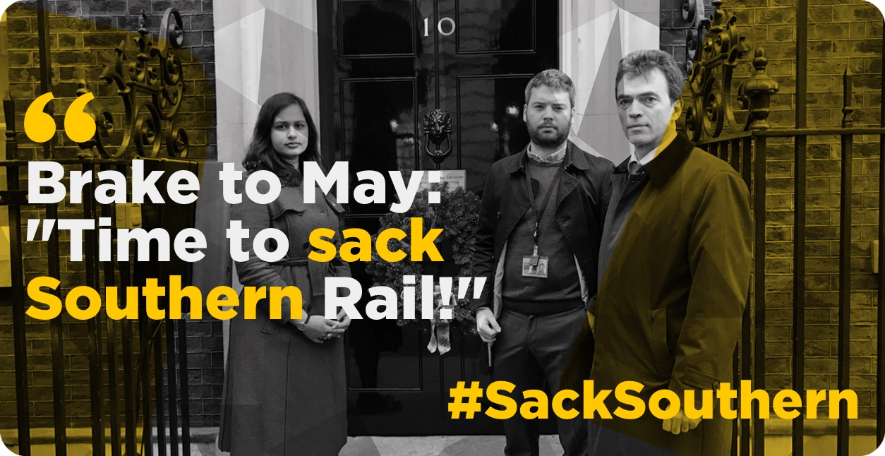 Brake takes fight to ''Sack Southern'' to Downing Street