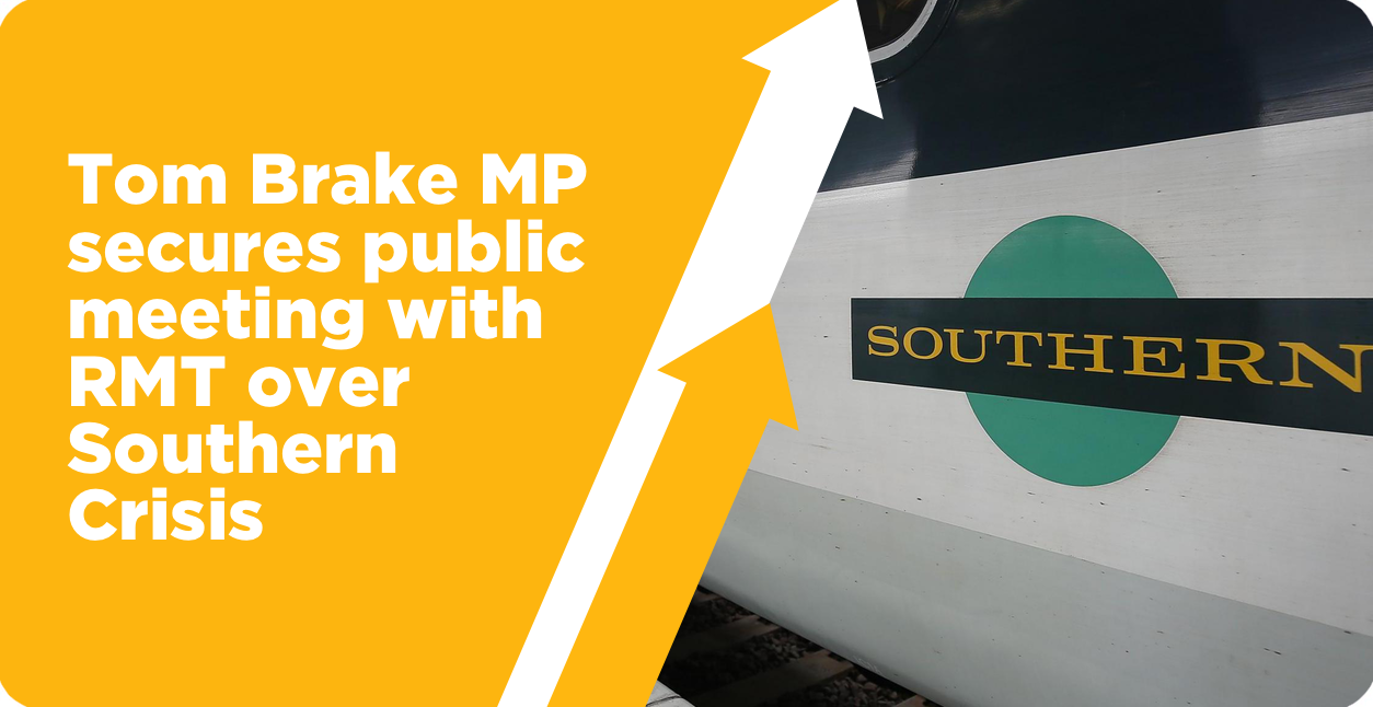 Tom Brake MP secures public meeting with RMT on Rail Chaos