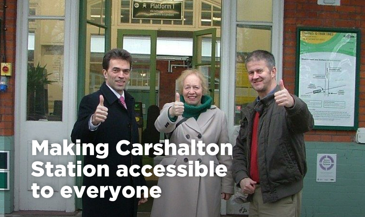 Making Carshalton Station accessible to all