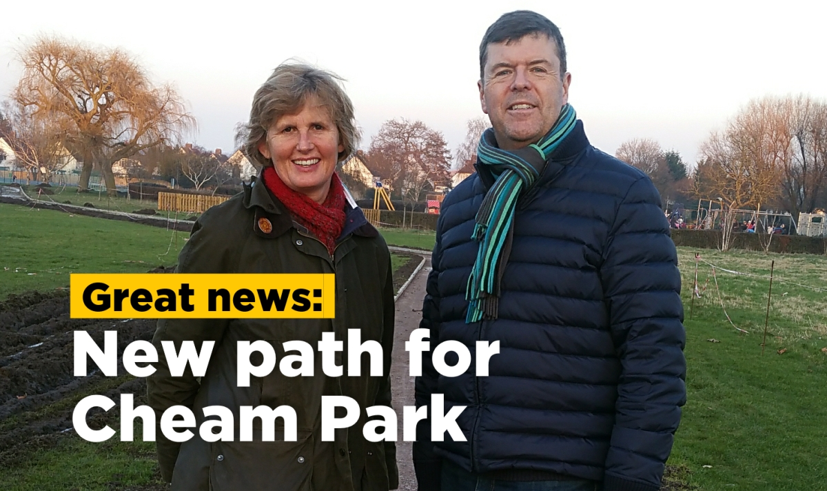 New path for Cheam Park