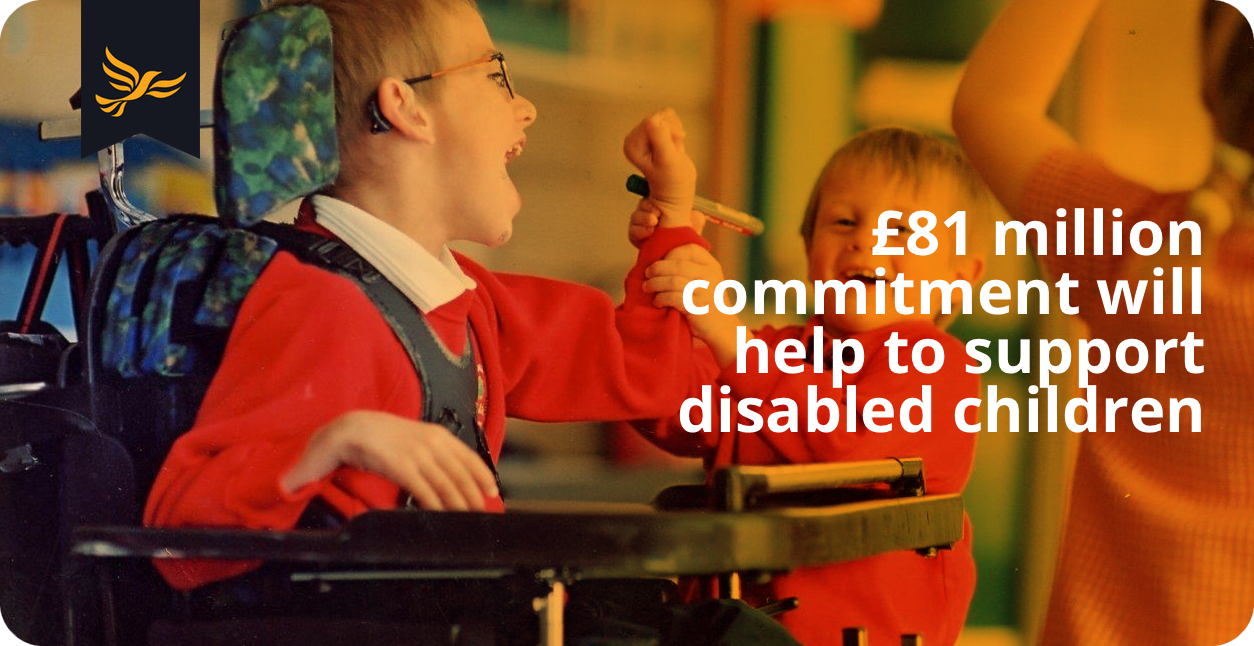 £81 million commitment will help to support disabled children - Brake