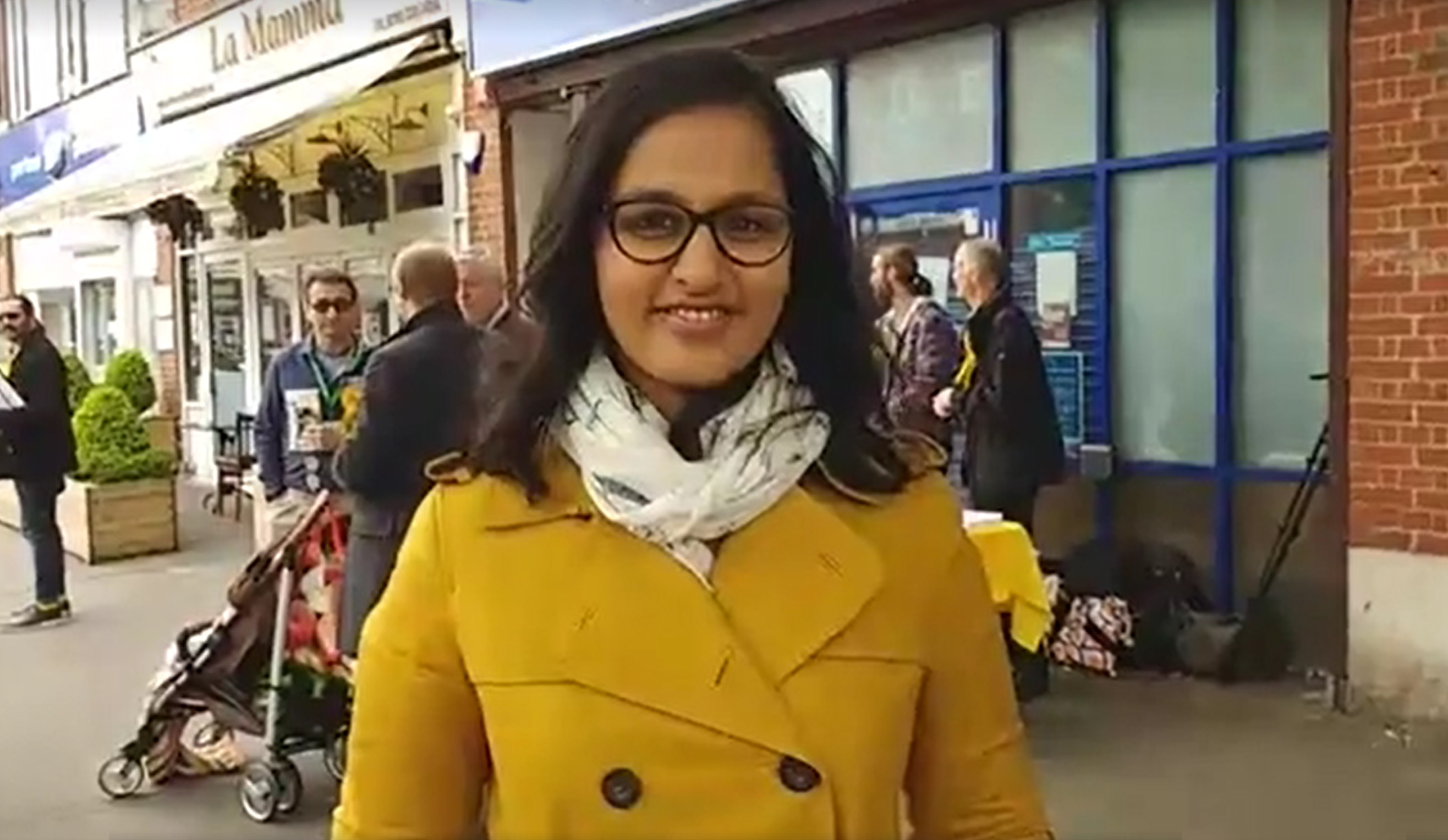 Amna Ahmad campaiging in Worcester Park