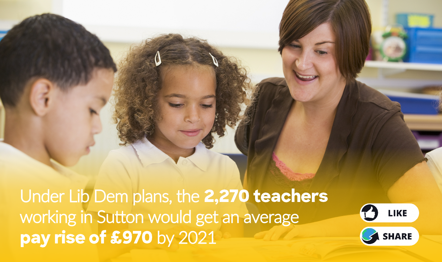 Lib Dems would increase wages for our nurses, teachers and police