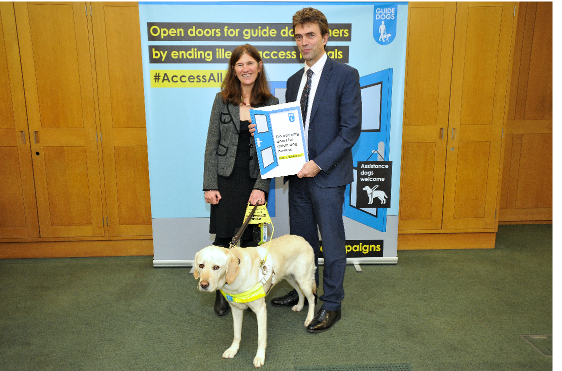 Brake fights discrimination against guide dog owners