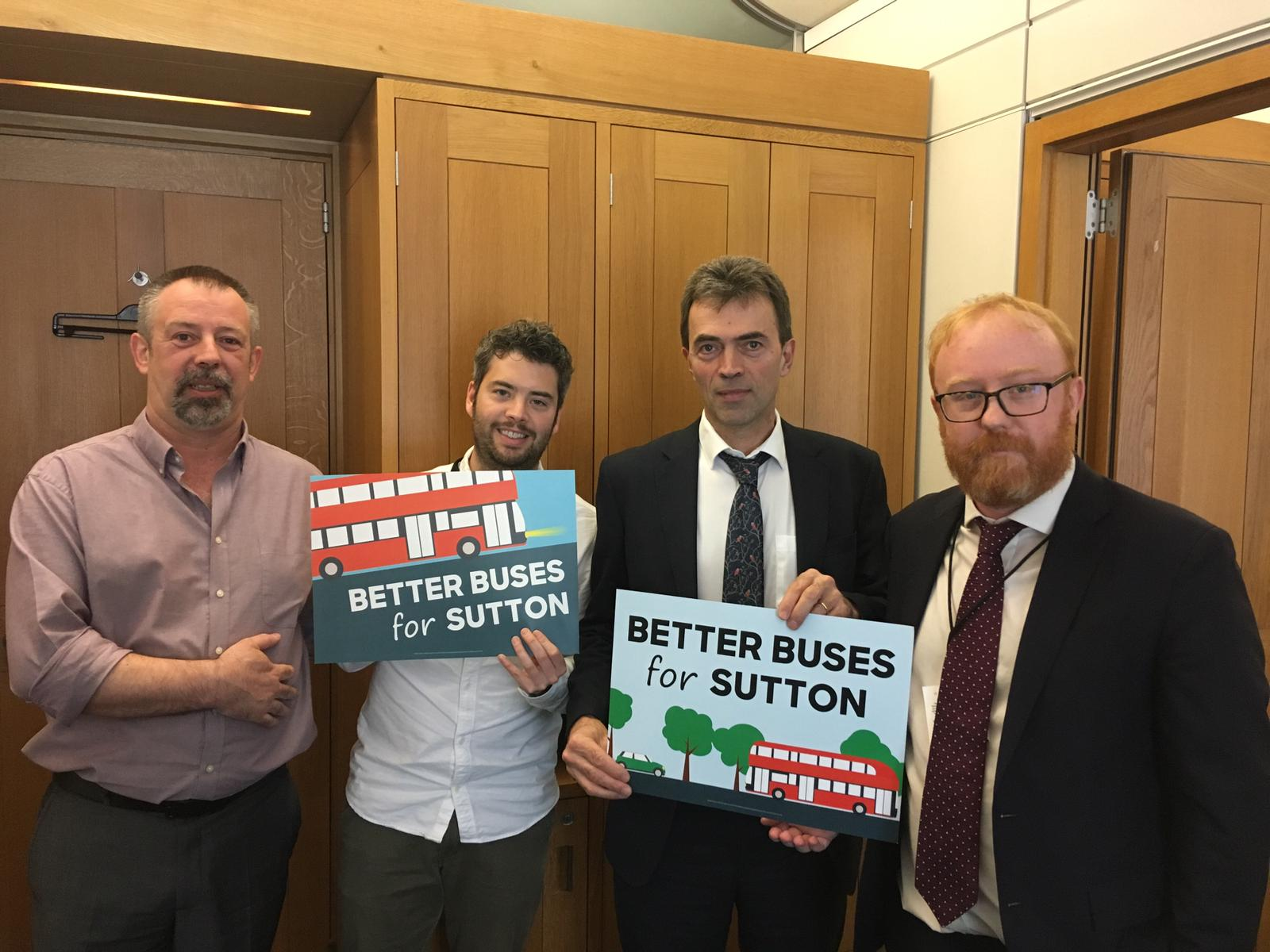 Brake and the Lib Dems demand ''Better Buses for Sutton''