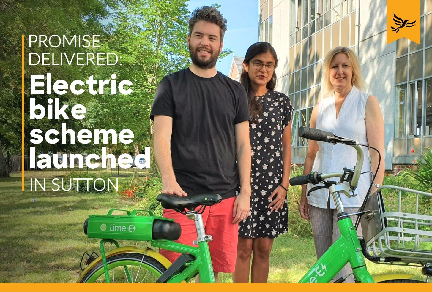Manifesto promise delivered: E-bikes come to Sutton