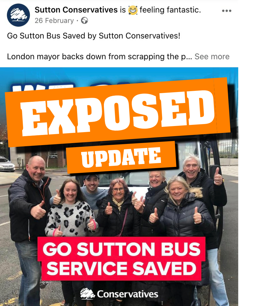 Tory MP's 'Go Sutton' response to FOI confirms that they just did not do any work