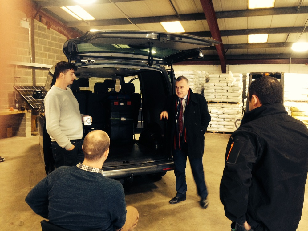 Mark Williams visits pioneering 'Perpetual V2G' hi-tech company in Lampeter