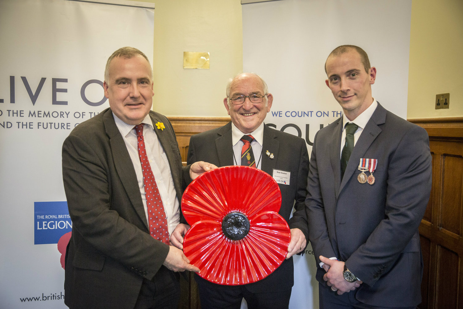 Mark Williams MP shows support for Armed Forces community in Wales