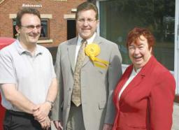 Cllr Mark Weldon, Cllr Mark Hunter and Cllr Maggie Clay are working to make our roads safer