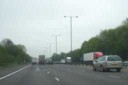 Motorway road traffic congestion