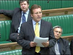 Mark speaking out in Parliament