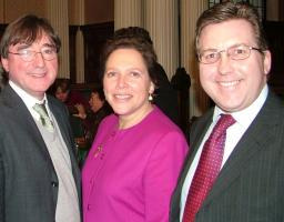 Mark, Susan Kramer and Professor Tom Cannon at 'Silver Entrepreneurship' launch