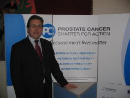 Mark supports the work to raise awareness of Prostrate Cancer in a reception at Westminster