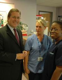 Mark with nurses