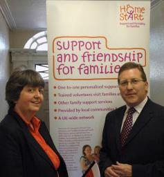 Mark with Fran Russell, Senior Organiser of the Stockport Branch of Home Start