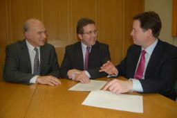 Mark's campaign has the backing of Nick Clegg and Vince Cable