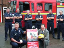Mark with local firefighters