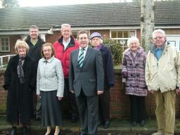 Local residents and Mark unite on Bramley Close to oppose the proposals