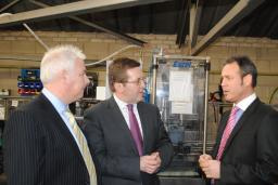 Mark on his recent visit to the local business Ink Technologies