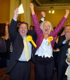 Mark Hunter has been re-elected as the MP for Cheadle