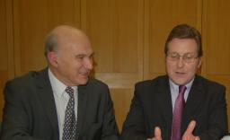 Mark with Lib Dem colleague Vince Cable